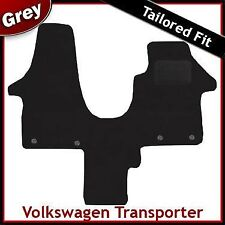 VW Transporter T5 Solo Asiento del pasajero 2003-2015 Gris a Medida Alfombra Mat