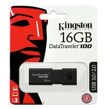 Pendrive 16GB Kingston 16 GB USB 3.0 - DT100G3/16GB