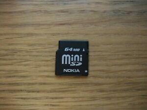 Nokia 64MB Mini SD Card (miniSD) - Vintage Memory Card