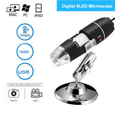 1600X USB Digital Microscope Stereo Endoscope Magnifier Microscopio with Stand