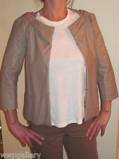 NWT VALENTINO JACKET COAT SOFT LEATHER LAMBSKIN ITALY SIZE SMALL 40  4 X SMALL