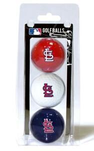 St Louis Cardinals 3 Pack Golf Balls [NEW] MLB White Golfing Pk Ball