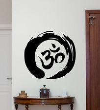 Zen Circle Om Symbol Wall Decal Yoga Vinyl Sticker Bedroom Decor Poster 179hor