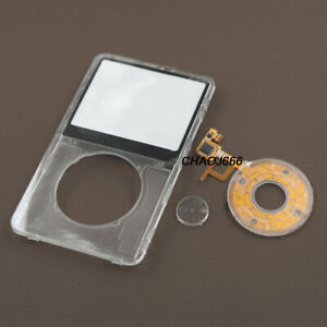 Transparent Faceplate Housing Cover Clickwheel for ipod 5th video 30gb 60GB 80gb