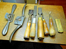 8 Old Antique Tool Lot Woodworking Shop