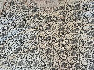 Chute de 2m de tissu dentelle blanc 200x150 cm