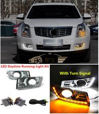 Bumper Driving Fog Lamp LED DRL Kit Turn Signal lamp For Cadillac SRX 2010-2016
