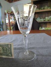 SUSQUEHANNA GLASS FUCHSIA CUT STEM #3848 WATER GOBLET