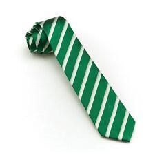 100%SILK Skinny Tie Slim Woven Necktie Mens Fashion Business Wedding Tie Green