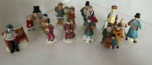 Vintage Accessories Christmas Village People Figures Lot5 Lot Porcelain