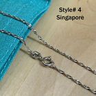 Real Silver Unique Jewelry Solid 925 Sterling Silver Chain Necklace Made Italy