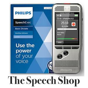 Philips DPM6000/02 Pocket Memo with SpeechExec Dictate V11 License DPM6000
