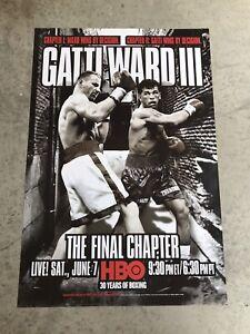 GATTI VS WARD III OFFICIAL HBO FIGHT POSTER   2003