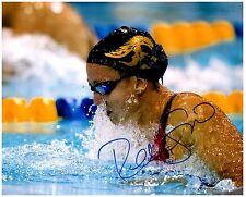 REBECCA SONI Signed Autographed TEAM U.S.A. Olympic Swimming 8x10 Pic. B