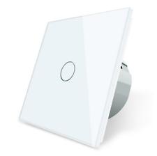 Funk Funkdimmer Glas Touch Dimmer Schalter Ein/Aus C701DR-11 LIVOLO Weiß
