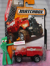 2014 Matchbox #92 FLAME SMASHER☆Red;Water; Fire Dept; 2☆MBX HEROIC RESCUE☆