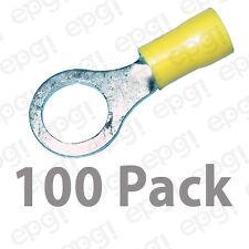 """RING TERMINAL VINYL 3/8"""" YELLOW 10-12 GAUGE #109-100PK"""