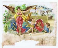 Gloria de Key West, Angel, cherub, sample cigar box label, O L Schwenke #117