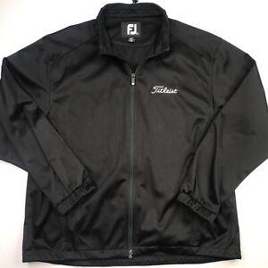 Footjoy Titleist Men's Size XL Jacket Black Softshell Full Zip Golf Jacket
