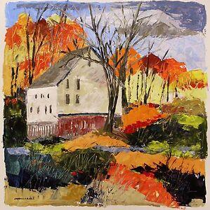 Original Farm  LANDSCAPE Expressionism Painting John Williams art JMW