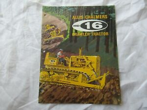 Allis-Chalmers tractor brochure for model HD16 HD 16 crawler tractor