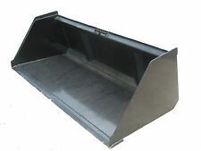 "New 72"" Snow & Litter Skidsteer Bucket W/Quick Attach Free Shipping!"