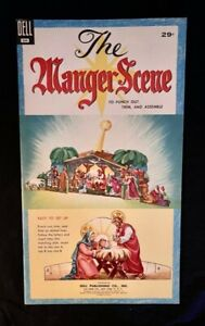 1954 DELL PUNCHOUT BOOK THE MANGER SCENE ORIGINAL UNPUNCHED