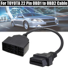 22 Pin OBD1 To 16 Pin OBD2 Convertor Adapter Cable For TOYOTA Diagnostic Scanne