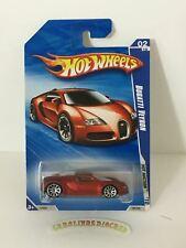 2010 hot wheels Bugatti Veyron Satin Red Walmart exclusive Vhtf with protector