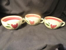 3 Stangl Magnolia Coffee Cups - No Saucers - Mint