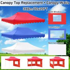 10X20FT Canopy Top Replacement + Canopy Walls Cover Tent Waterproof UV   1