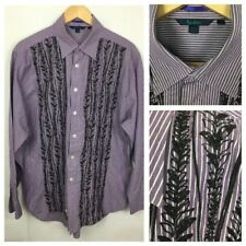 """BODEN Mens Shirt Size L 48"""" Chest Classic Fit Embroidered *Worn Once*"""