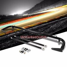 """Black Mild Steel 49"""" Racing Safety Chassis Seat Belt Harness Bar/Across Tie Rod"""