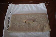 BCBG cream leather purse gold chain strap