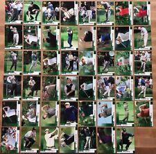 "2002 Upper Deck Golf 47 Base ""Green"" Card Set Tiger Woods Phil Mickelson Rookie"