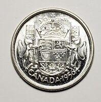 Canada 1956 Silver 50 Cents Half Dollar Coin