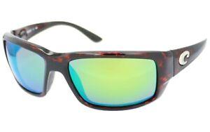 Costa Del Mar Fantail Green Mirror Polarized 580P Tortoise Sunglasses TF10OGMP