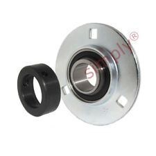 SAPF202 Round 3 Bolt Pressed Steel Bearing Housing - 15mm Collar Insert
