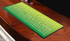 COCKTAIL BUS BLIND GREEN Bar Towel Runner Pub Mat Beer Cocktail Party Gift