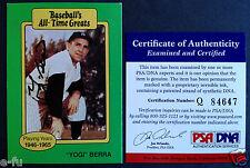 YOGI BERRA Signed 1987 All Time Greats Auto PSA/DNA COA NY Yankees Autograph