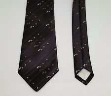 Vintage 1970s Brown Diagonal Square Pattern Polyester Tie by Asdale EM43