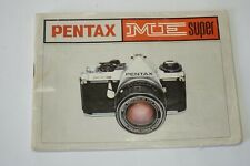 Pentax ME Super Instruction manual in English, 35mm SLR Camera instructions