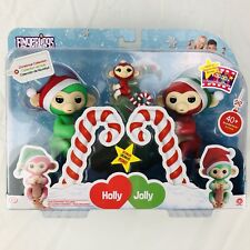Christmas Fingerlings Holly Jolly and Bonus Mini Merry Monkeys - Rare Exclusives