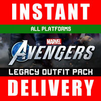 Marvels Avengers Legacy Outfit Pack + Nameplate DLC Pre Order Bonus Xbox PS4 PC
