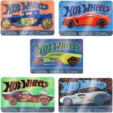 5 x Rectangle Stickers ~ Foil Hot Wheels Little Metal Cars Mean Machines Rev ~