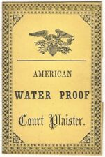 American 19th Century Water Proof Court Plaister Printed Paper Packet