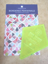 """5"""" Wacky Web (Periwinkle)Template &Bordered Periwinkle Quilt Pattern 10"""" Squares"""