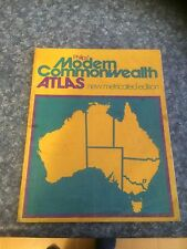 VINTAGE PHILIPS' MODERN COMMONWEALTH ATLAS - NEW METRICATED EDITION