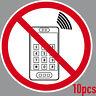 10 Aufkleber 15cm Sticker Handyverbot Telefon Mobiltelefon Handy Verbot Verboten