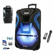 """beFree Sound 15""""RECHARGEABLE Bluetooth PARTY DJ PA Speaker System*with MIC&LIGHT"""